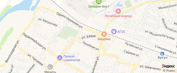 9-ое Мая улица на карте Аргуна с номерами домов