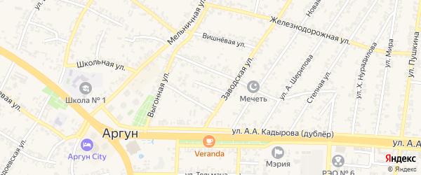 2-й Заводской переулок на карте Аргуна с номерами домов
