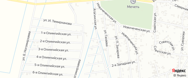 1-й Атагинский переулок на карте Шали с номерами домов