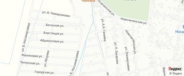 2-й Атагинский переулок на карте Шали с номерами домов
