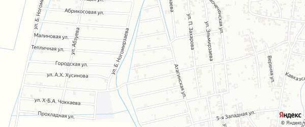 6-й Атагинский переулок на карте Шали с номерами домов