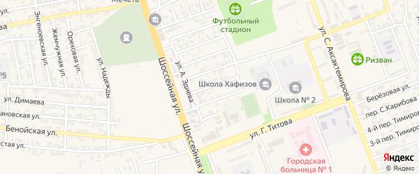 Улица М.Эсамбаева на карте Аргуна с номерами домов