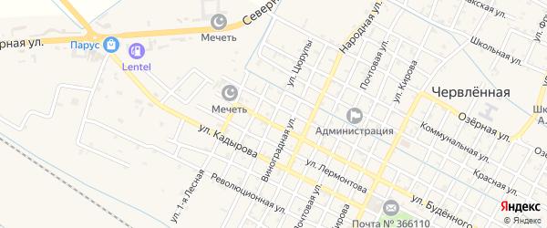 Улица Цюрупы на карте Червленной станицы с номерами домов