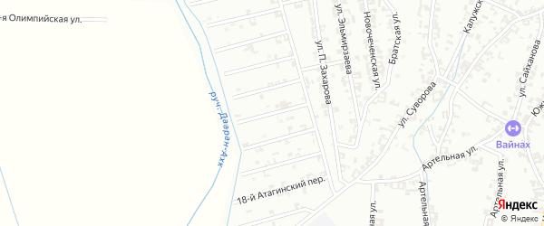 15-й Атагинский переулок на карте Шали с номерами домов
