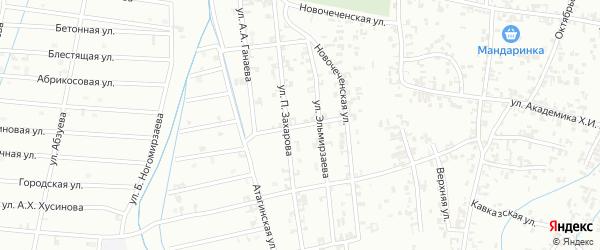 2-я Западная улица на карте Шали с номерами домов