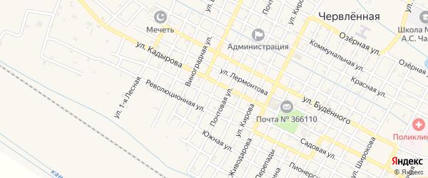 Улица Ж/д на карте Червленной станицы с номерами домов