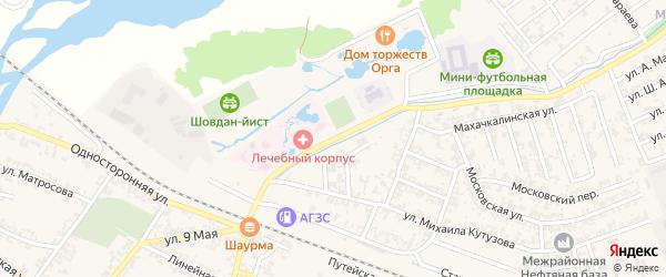 Переулок 2-й Т.Исрапилова на карте Аргуна с номерами домов
