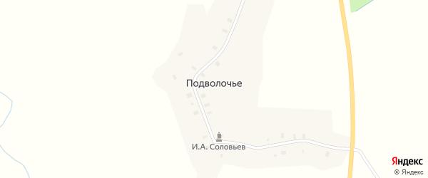 Спортивная улица на карте деревни Подволочье (Шестаковское с/п) Вологодской области с номерами домов