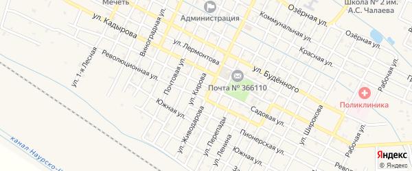 Садовая улица на карте Червленной станицы с номерами домов