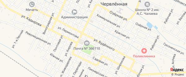 Улица Буденного на карте Червленной станицы с номерами домов
