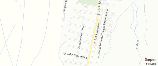 Переулок 5-я Агиштинская на карте Шали с номерами домов