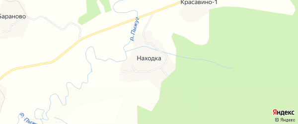 Карта поселка Находки в Вологодской области с улицами и номерами домов
