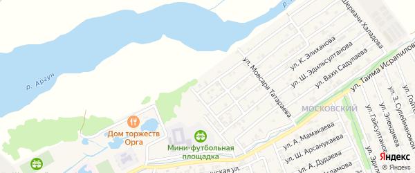 Переулок 4-й М.Ахмадова на карте Аргуна с номерами домов
