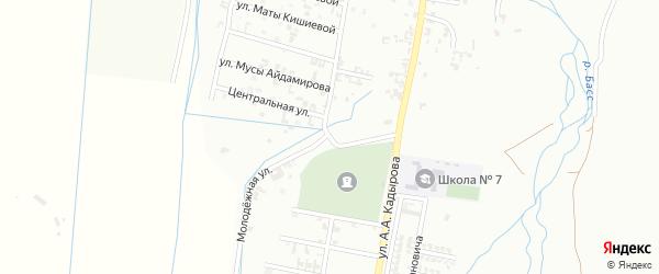 Переулок 1-я Агиштинская на карте Шали с номерами домов