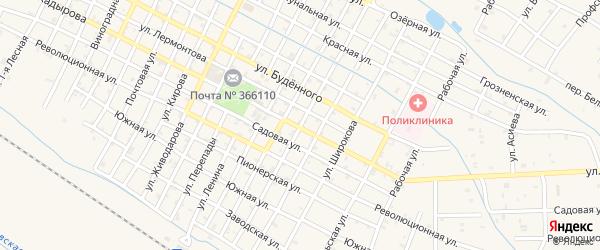 Улица Грибоедова на карте Червленной станицы Чечни с номерами домов