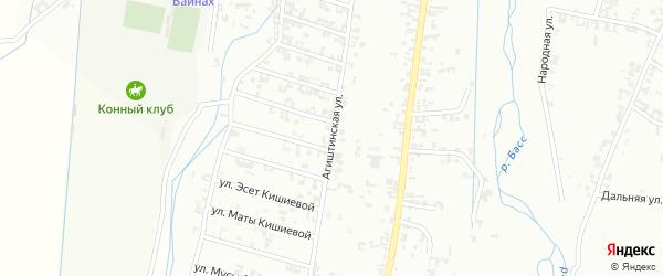 Переулок 2-я Агиштинская на карте Шали с номерами домов