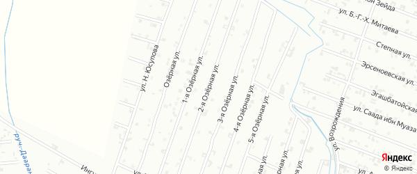 2-я Озерная улица на карте Шали с номерами домов