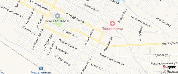 Улица Широкова на карте Червленной станицы с номерами домов