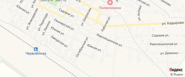 Пионерская улица на карте Червленной станицы с номерами домов