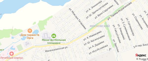 Улица А.Атуева на карте Аргуна с номерами домов