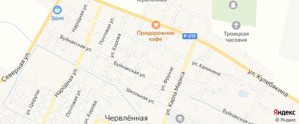 Партизанская улица на карте Червленной станицы Чечни с номерами домов