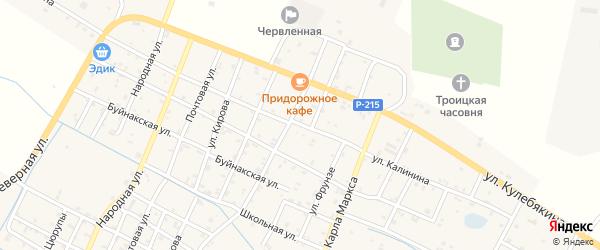 Улица Калинина на карте Червленной станицы с номерами домов