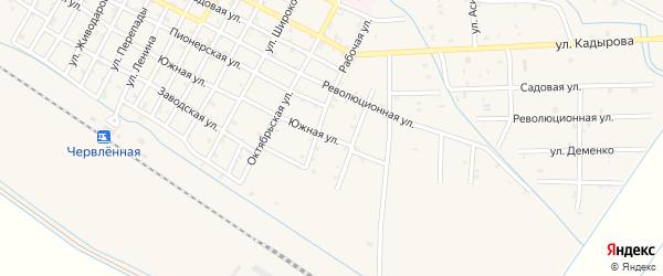 Южная улица на карте Червленной станицы с номерами домов
