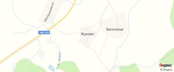 Карта деревни Жуково в Вологодской области с улицами и номерами домов