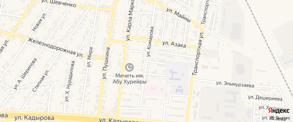 Улица В.Комарова на карте Аргуна с номерами домов