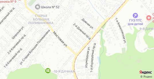 Дивный 4-й проезд в Саратове с номерами домов на карте. Спутник и схема онлайн