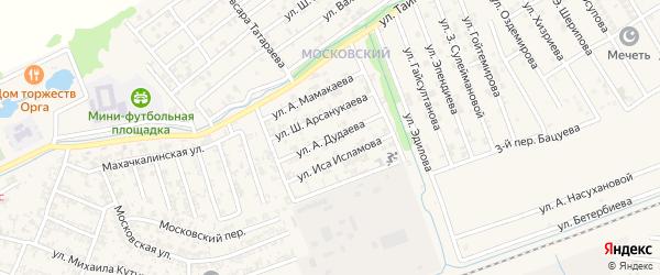 Улица А.Айдамирова на карте Аргуна с номерами домов