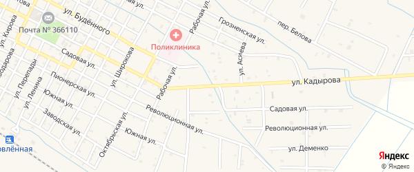 Улица А.Кадырова на карте Червленной станицы Чечни с номерами домов