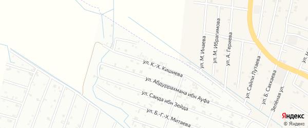 18-ая Параллельная улица на карте Шали с номерами домов