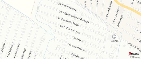 15-ая Параллельная улица на карте Шали с номерами домов