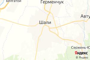 Карта г. Шали Чеченская Республика