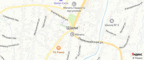 Улица Тевсиева на карте Шали с номерами домов