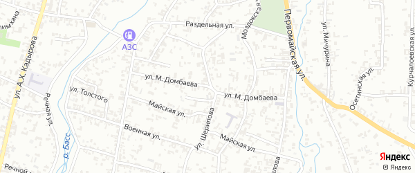 Улица М.Домбаева на карте Шали с номерами домов