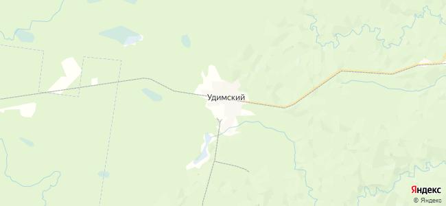 Удимский на карте