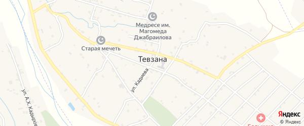 Улица Х.А.Амхадова на карте села Тевзаны с номерами домов