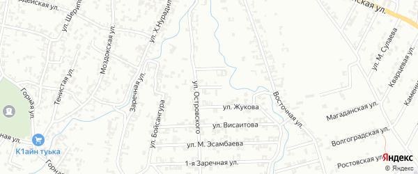 Переулок 2-й Островского на карте Шали с номерами домов