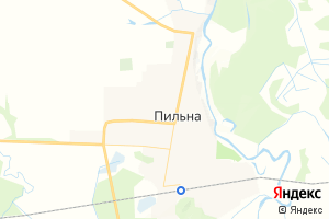 Карта пгт Пильна Нижегородская область
