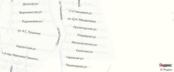 10-я Глянцевая улица на карте Шали с номерами домов