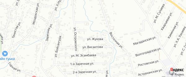 Улица Жукова на карте Шали с номерами домов