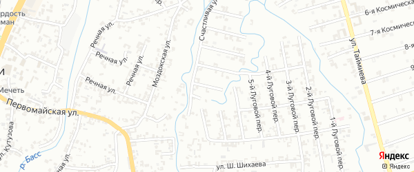 Переулок 2-й Зенита на карте Шали с номерами домов