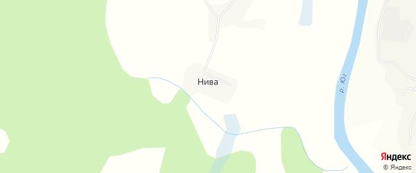 Карта деревни Нивы в Вологодской области с улицами и номерами домов