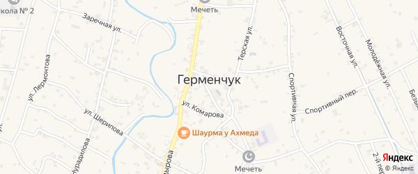 5-й Шоссейный переулок на карте села Герменчук с номерами домов