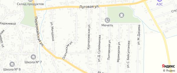 Курчалоевская улица на карте Шали с номерами домов