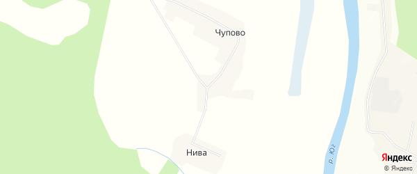 Карта деревни Чупово в Вологодской области с улицами и номерами домов