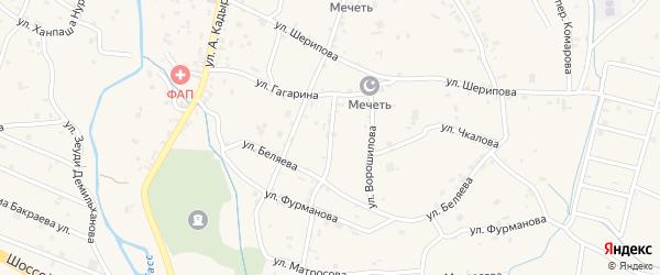 Переулок 1-й Гагарина на карте села Герменчук с номерами домов