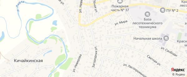 Загородная улица на карте села Красноборска с номерами домов